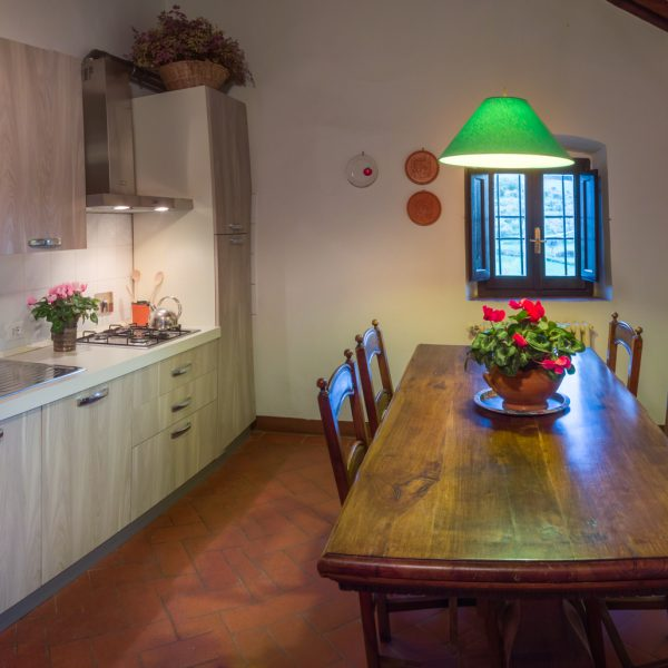 Kitchen in Vittoria cottage Masseto in Chianti