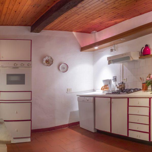Kitchen Cappero cottage Masseto in Chianti